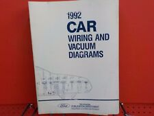 1992 FORD  LINCOLN  MERCURY WIRING DIAGRAMS FACTORY MANUAL  (FM1992C)