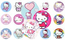 Hello Kitty Pre-Cut 1 Inch Bottle Cap Images (6 Options)