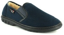 New Mens/Gents Croft Originals Navy Twin Gusset Full Slippers UK SIZES