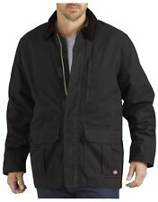 BNWT Mens Dickies Sanded Duck Insulated Coat Item #TC280 Black XL