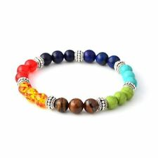 Women Multi-color Stone Casual Summer Lace-up Rope Chain Bracelet