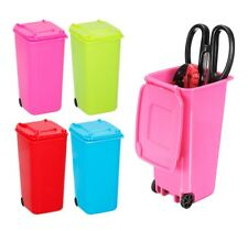 Mini Wheelie Bin Desk Tidy Office Stationery Organiser Pencil Holder Table Top