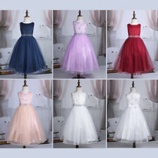 Flower Girl Wedding Dresses Lace Bridesmaid Princess Party Long Gown Dress