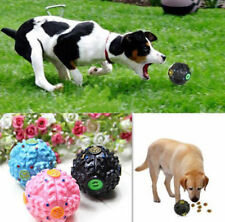 Food Dispenser Pet Dog Treat Trainning Toy Giggle Ball Sound Chew Tough New