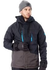 686 Black Color Block Geo Insulated Snowboarding Jacket