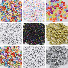 100Pcs Mixed Alphabet Letter Acrylic Cube Spacer Loose Beads Jewelry DIY Making