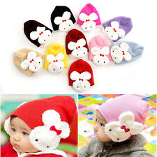 Baby Kids Rabbit Hats Toddler Kids Winter Ear Flap Warm Hat Beanie Cap Crochet