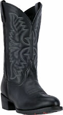 Laredo Mens Black Birchwood Leather Cowboy Boots 12in R Toe