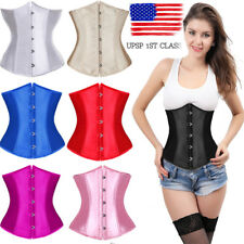 Strap Sexy Women Boned Satin Corset Lace Bustier Dress Top Shaper Fashion Style
