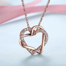 Rose Gold Color With Austrian Crystals Heart Shape Pendant For Women