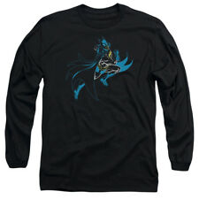 Batman NEON BATMAN Action Shot Licensed Adult Long Sleeve T-Shirt S-3XL