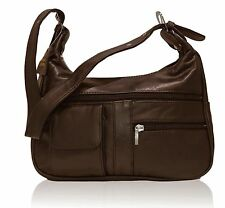 SOFT GENUINE LAMBSKIN LEATHER SHOULDER BAG *  Brown or Burgandy