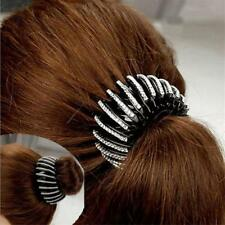 Hair Clips Womens Crystal Double Rows Ponytail Holder Headband Accessories