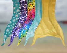 UK SWIMMABLE MERMAID TAIL FIN COSTUME WITH REAL FINIS MONOFIN IN PINK OR PURPLE