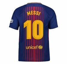 New Jersey Soccer 17-18 Home Away FC spain Barcelona Shirt Messi 10#  SUAREZ 9#
