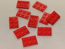 Bulk Lot Lego Part No.3021: Red or Blue Plate 2 x 3, Qty x 10