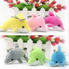 Plush Dolphin Lovely Cute Crystal Pendent Charm Purse Bag Key Ring Chain Gift