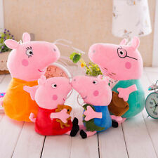 "10""/12"" Family Toys Peppa Pig Plush Toys Peppa George Mummy Daddy Xmas Gift Toys"