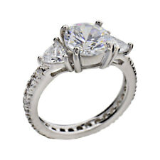Cubic Zirconia Sterling Silver Eternity Jewelry Women Wedding Engagement Ring