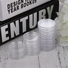 100 Pieces Applied Clear Round Cases Coin Storage Capsules Holder Round Plastic