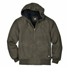 Dickies Men's Light Weight Sanded Duck Thermal Lined Hooded Jacket