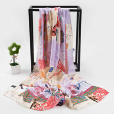 Butterfly Silk Scarf Female Fashion Long 100% Pure Twill Scarfs Shawl Hijab Wrap