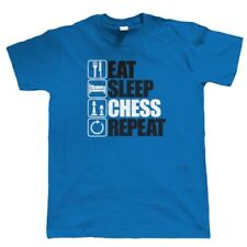 Eat Sleep Chess Repeat, Mens Funny Intellectual T Shirt, Gift Dad