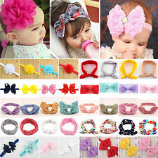 Kids Girl Baby Toddler Bowknot Headband Hair Band Accessories Headwear Head Wrap