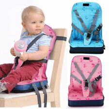 Portable Baby Toddler Dining Feeding Chair Foldable Booster Seat Safety Strap CE