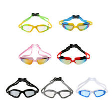 Adjustable Anti-fog UV Protection Waterproof Silicone Swimming Goggles Glasses