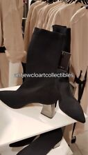 ZARA w 2018 FABRIC HIGH HEEL ANKLE BOOTS WITH STRETCH BLACK 35-42 REF. 5102/201