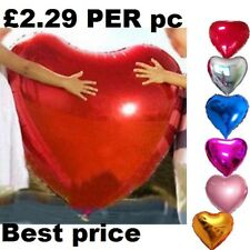 "32"" inch GIANT HEART FOIL BALLOON WEDDING VALENTINES HELIUM AIR PARTY BALLOONS"