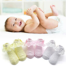 Sweet Princess Cute Baby Girls Lace Ruffle Frilly Ankle Socks Cotton Short Socks