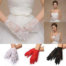 Women Wedding Party Evening Lace Floral Gloves Bridal Gloves Sunscreen ED 01