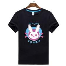 Game Unisex Overwatch OW D.Va Tops COS T-Shirt Leisure Short Sleeve Cosplay TEE