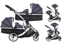 Duellette CB Tandem Double Twins Pushchair buggy Pram Travel system  car seat