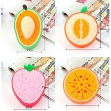 5 pc Scouring Pad Sponge Dish Fruit Shape Thicken Microfiber Kitchen Cleaning Cl