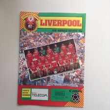 1984/85  Liverpool Home Football Programmes - Various Fixtures