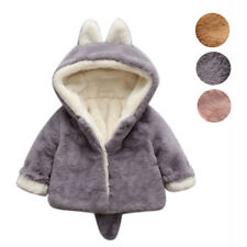 Cute Infant Girls Boys Autumn Winter Hooded Coat Cloak Jacket Thick Warm Clothes