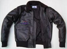 Flight G1 Bomber Pilot Flying Men Jacket Real Goatskin Leather Shearling Collar