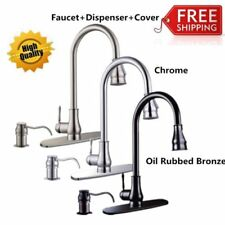 "16""18'' Pull-Out Brushed Nickel Kitchen Sink Faucet Spray Swivel One Handle SP"