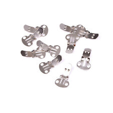 10-20x Blank Stainless Steel Shoe Clips Clip on Findings Wedding Craft DIY