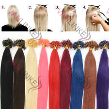 """20""""100S Pre Bonded U/NAIL Kertain Tip Remy Human Hair Extensions Straight"""