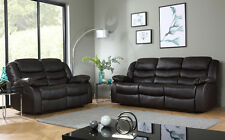SORRENTO Brown Leather Recliner Reclining Sofa Sofas Couch Suite Suites Range