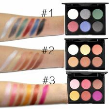 Shimmer Glitter Eye Shadow Palette 6 Colors Eyeshadow Cosmetic Makeup Kit Set ZB