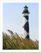 Cape Lookout Lighthouse And Sea Oats Art Print Home Decor Wall Art