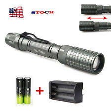 12000LM LED Flashlight XML-T6 Zoomable Super Bright Torch Lamp 18650 *Charger /