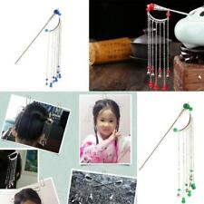 Chinese Style Palace Vintage Tassels Hairpin Stick Fashion Lady Hair Jewelry