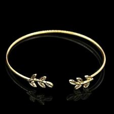Women Gold Silver Plated Copper Alloy Metal Cuff Open Bracelet Bangle A85