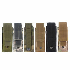 Military Tactical Molle Belt Flashlight OC Spray Pouch Holster Single Mag Clip